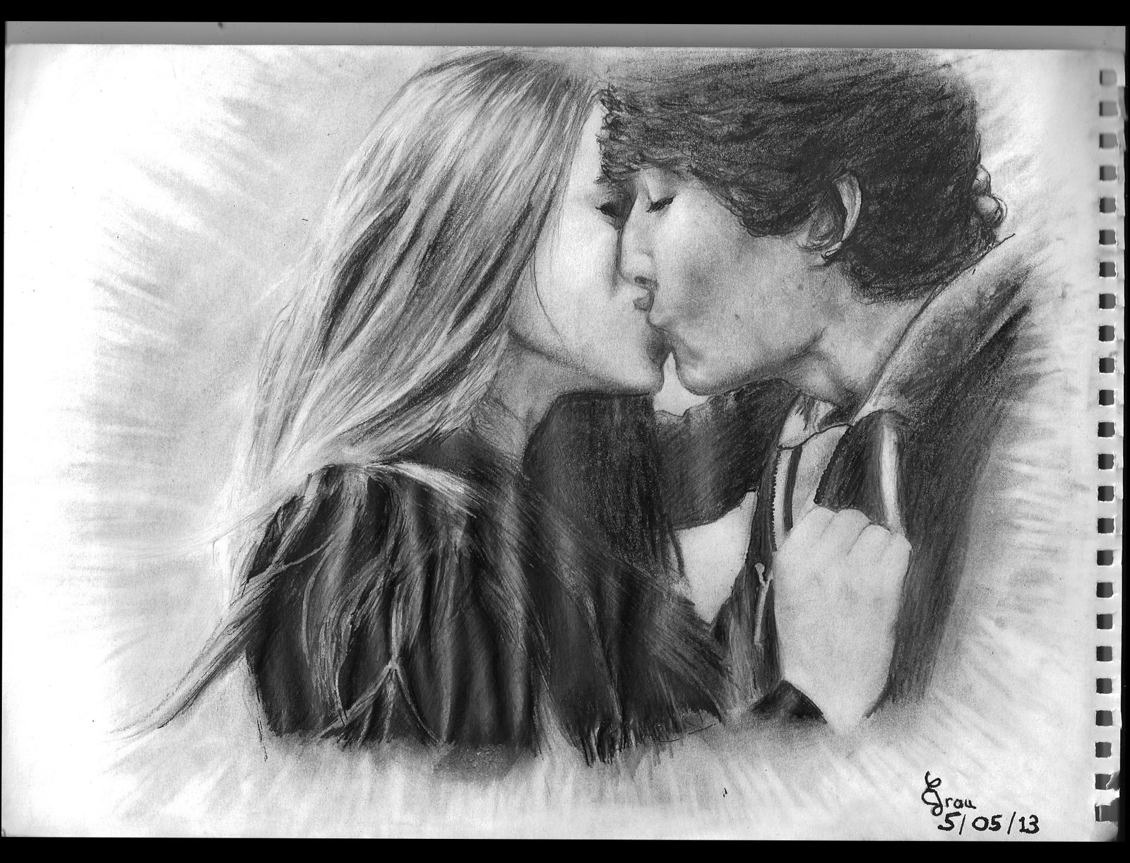 Dessins portraits jeune couple elenacreations - Dessin amoureux couple ...