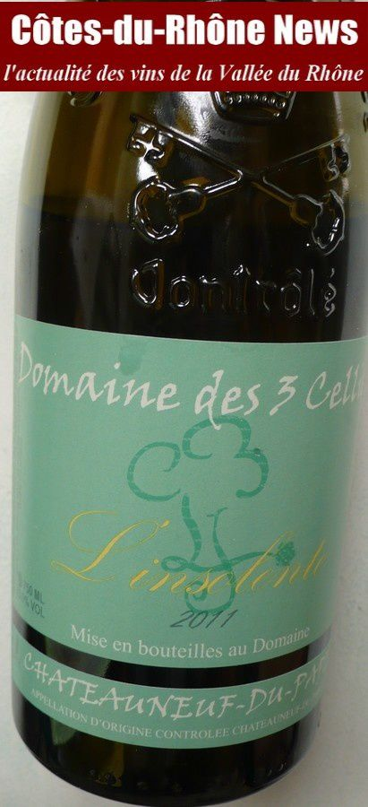 Châteauneuf blanc & truffe (2): Les 3 Cellier 2011