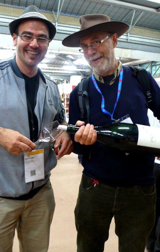 Vasco du domaine Chamfort et Lincoln, compagnons de dégustation à Vinisud 2014