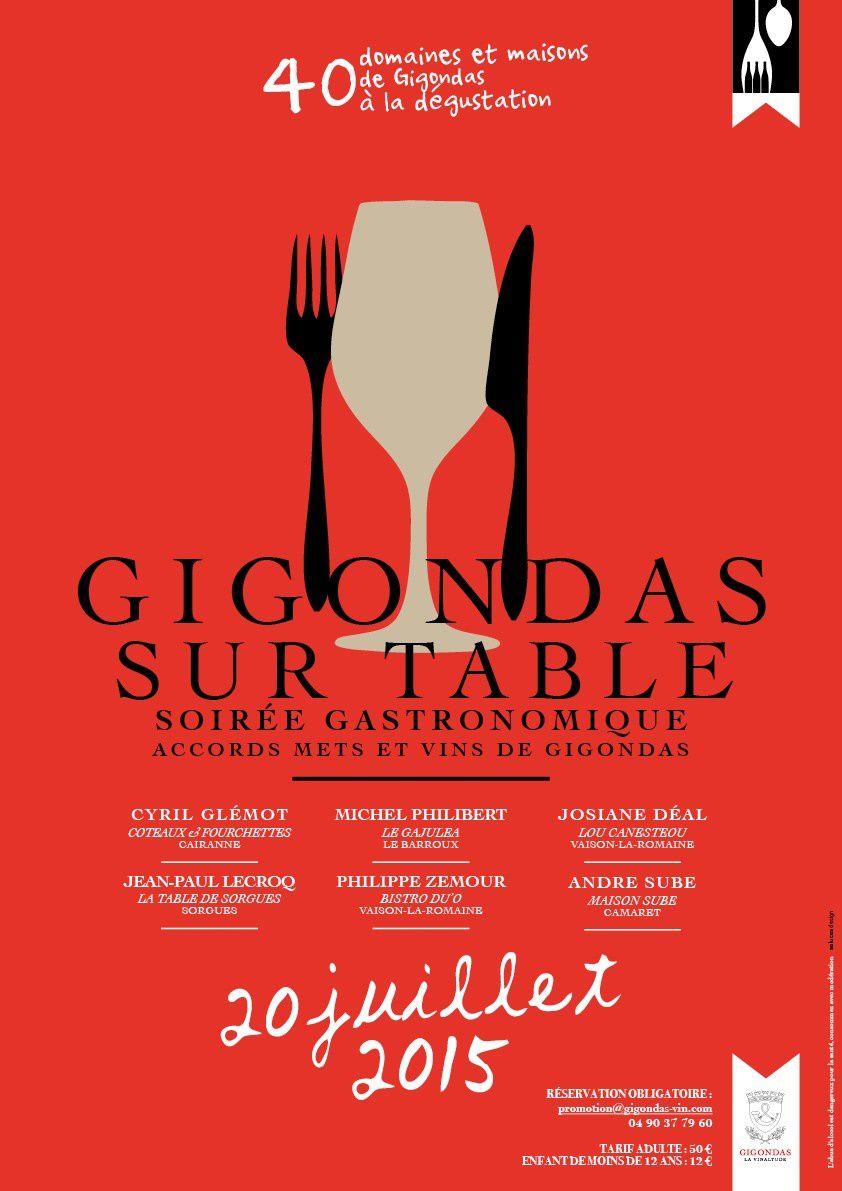 Gigondas sur Table, 4ème ! Rendez-vous le 20 juillet 2015