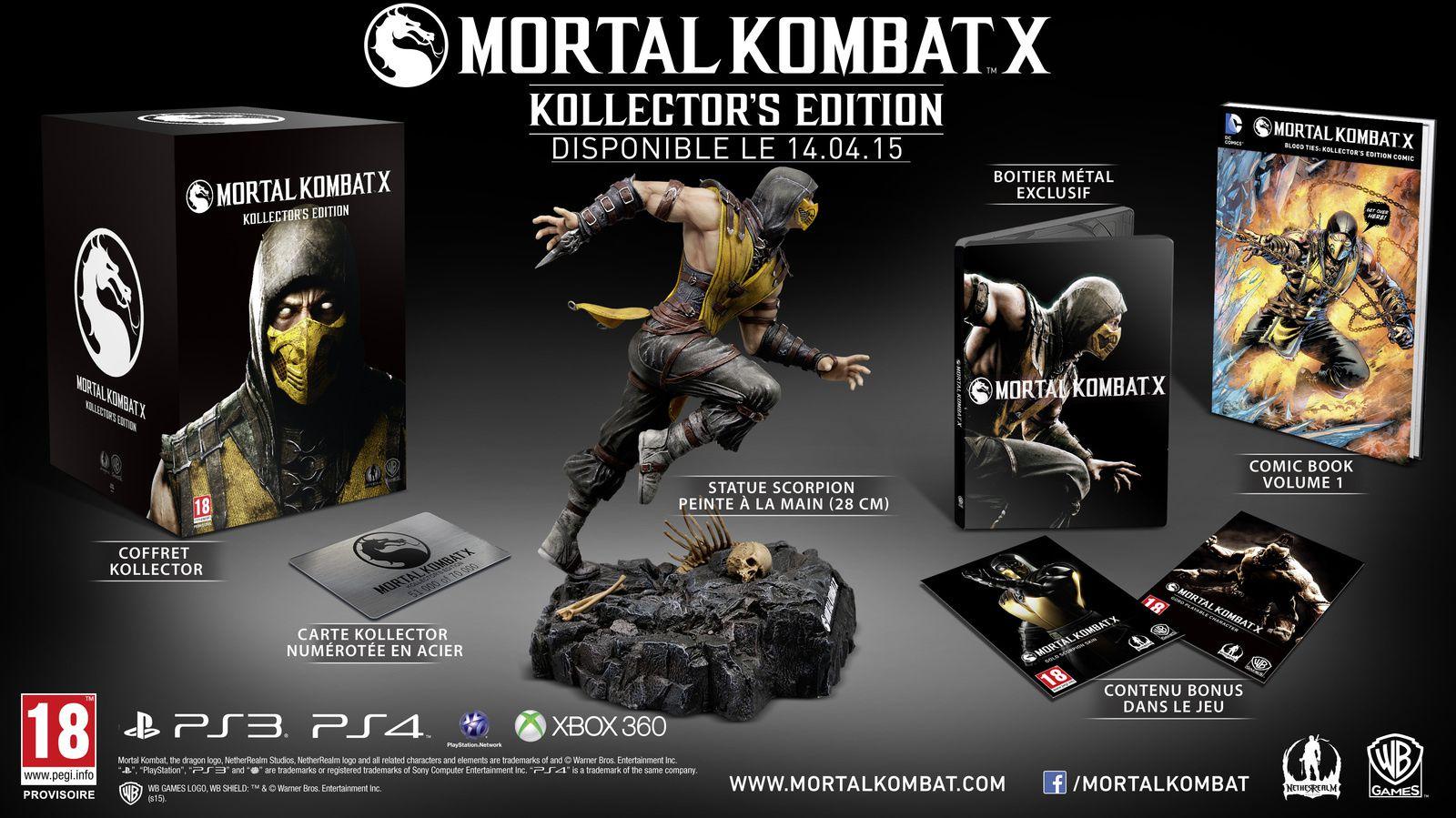 Les Kollectors de Mortal Kombat se dévoilent