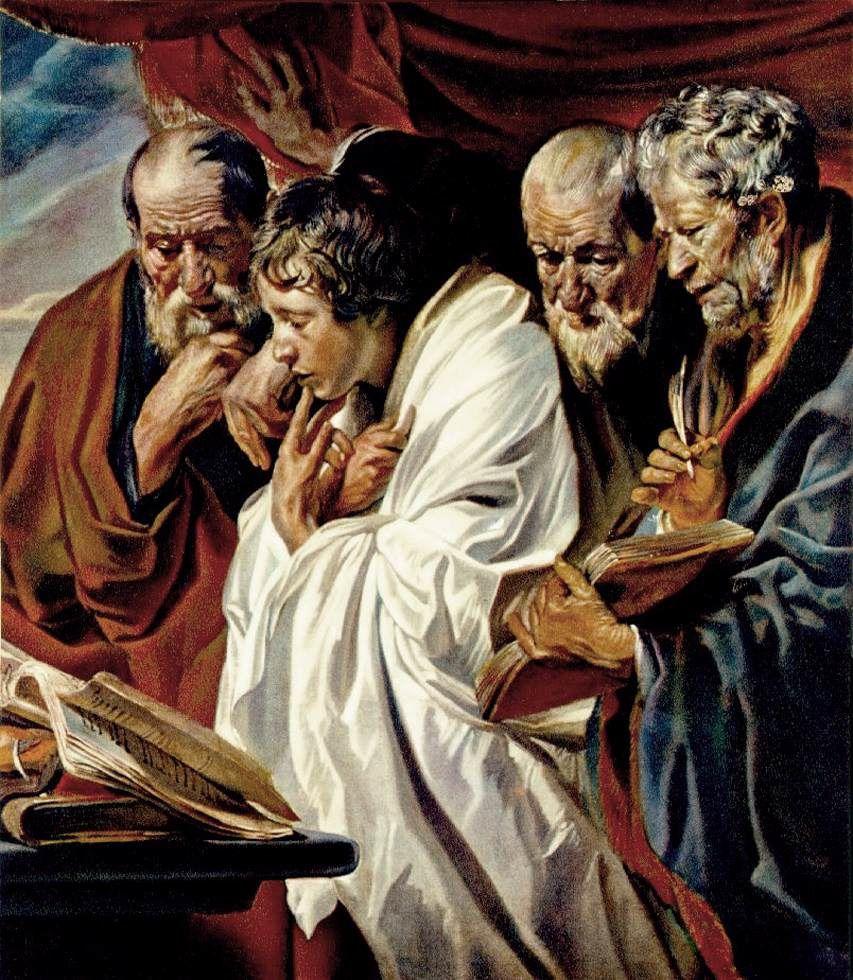 Les Quatre Evangélistes, Jordaens, Musée du Louvre