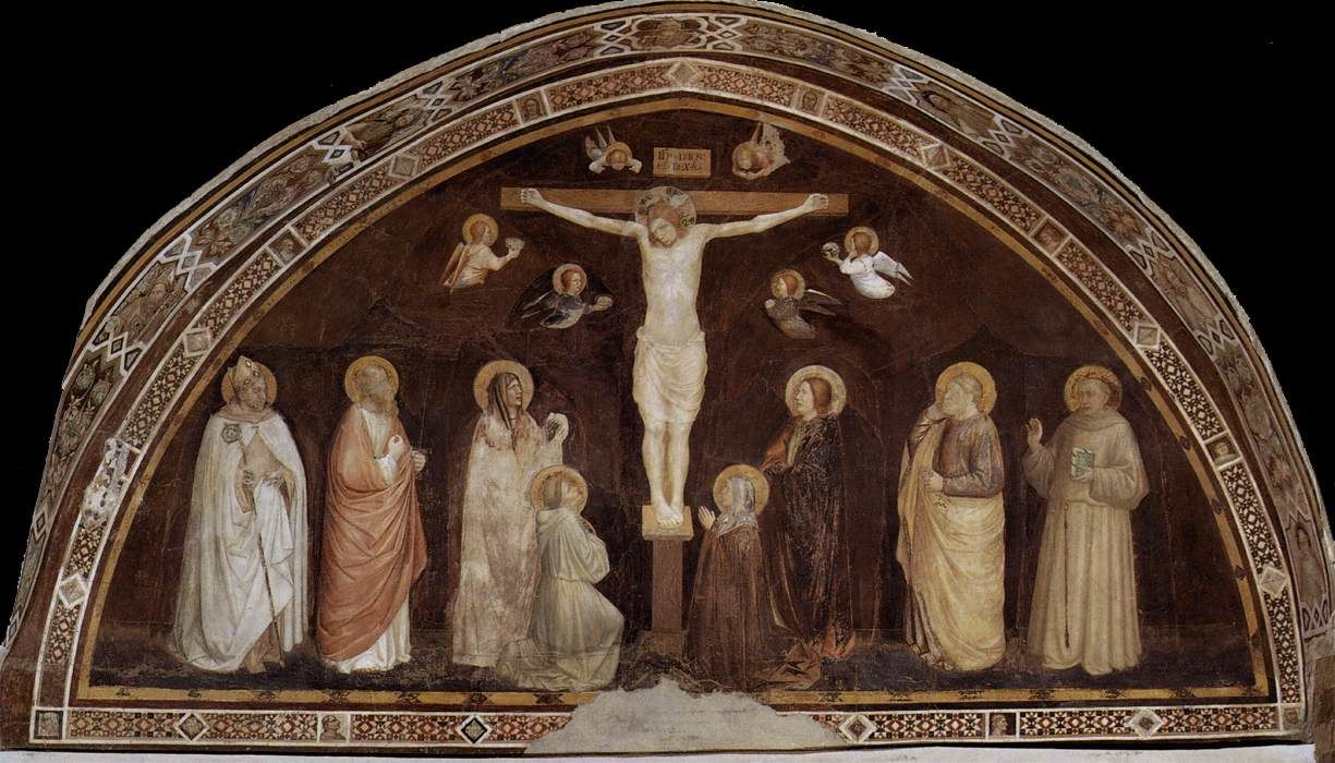 Puccio Capanna, Crucifixion, Fresco, Chapterhouse, San Francesco, Assisi