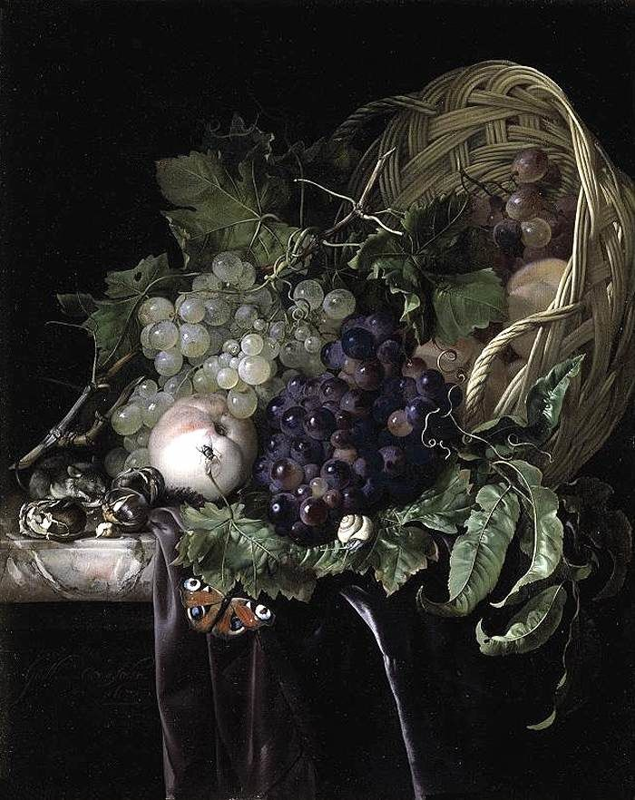 Nature morte de fruits, Willem Van Aelst (collection particulière)