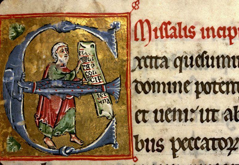 Isaïe, Missel à l'usage de Clermont, XIIIe siècle
