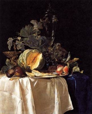 Nature morte avec fruits et vase de cristal, Willem van Aelst