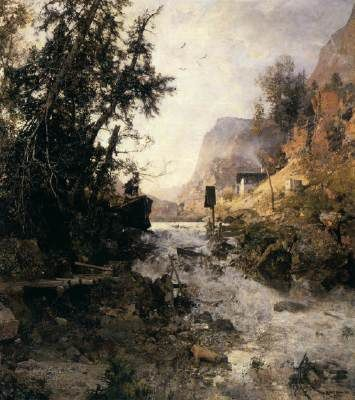 Mountain Torrent after the Storm, Robert Russ