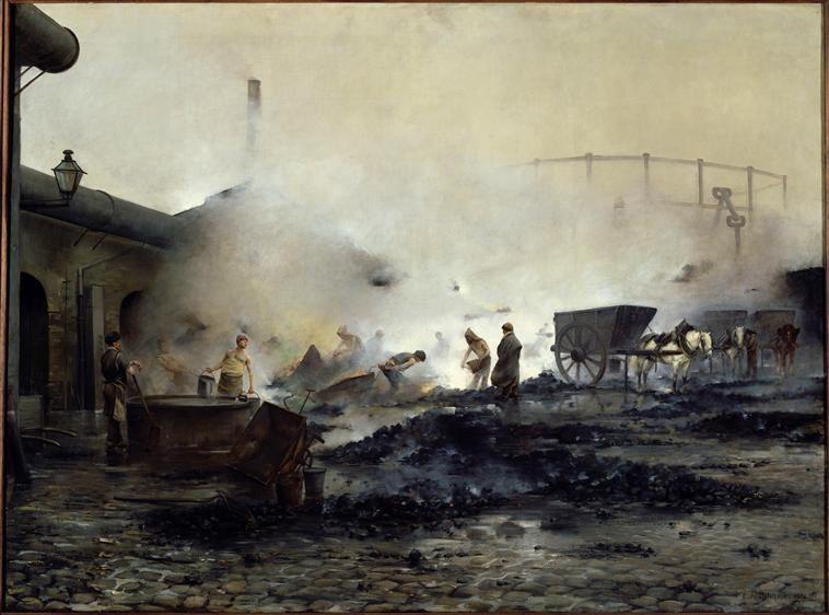 L'usine à gaz de Courcelles, Ernest Delahaye, 1884, Petit Palais, Musée des Beaux-Arts de la Ville de Paris