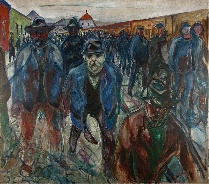 Ouvriers rentrant chez eux, Edvard Munch, 1912, Munchmuseet, Oslo