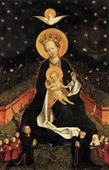 Madonna on a Crescent Moon in Hortus Conclusus, Web Gallery of Art