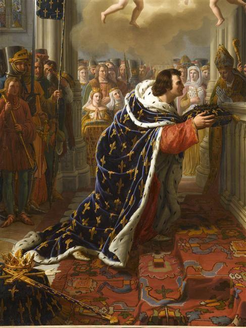 Saint Louis déposant la couronne d'épines dans la Sainte Chapelle de Paris en 1248, Charles Thévenin, Château de Versailles