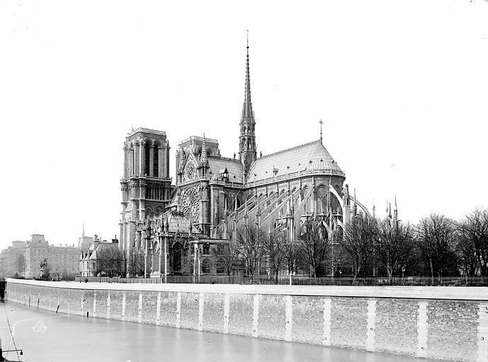 Notre-Dame de Paris, photographie de Médéric Mieusement, 1892