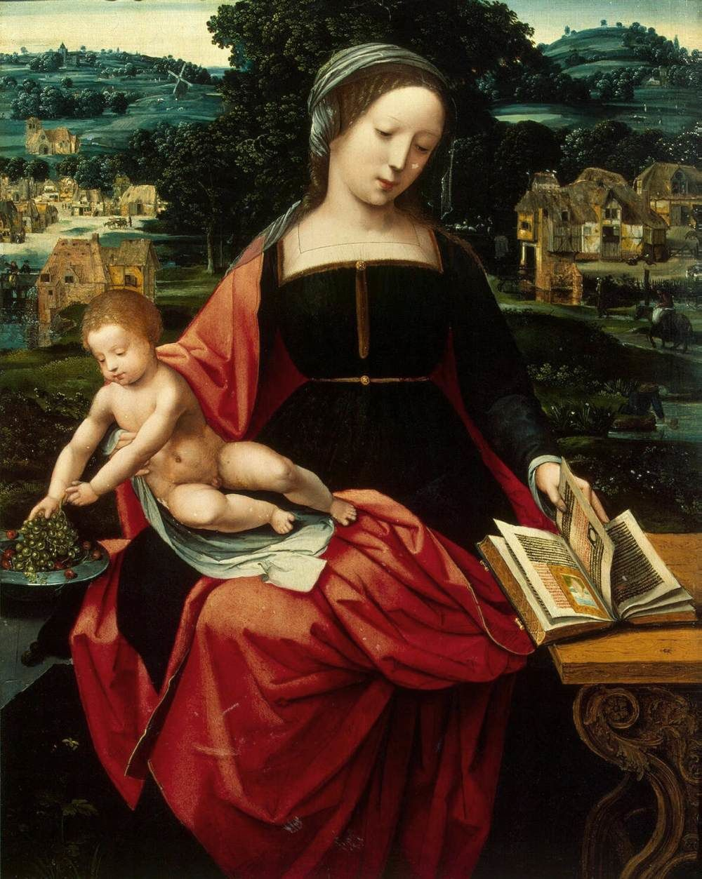Madonna and Child, Master of Female Half-lengths
