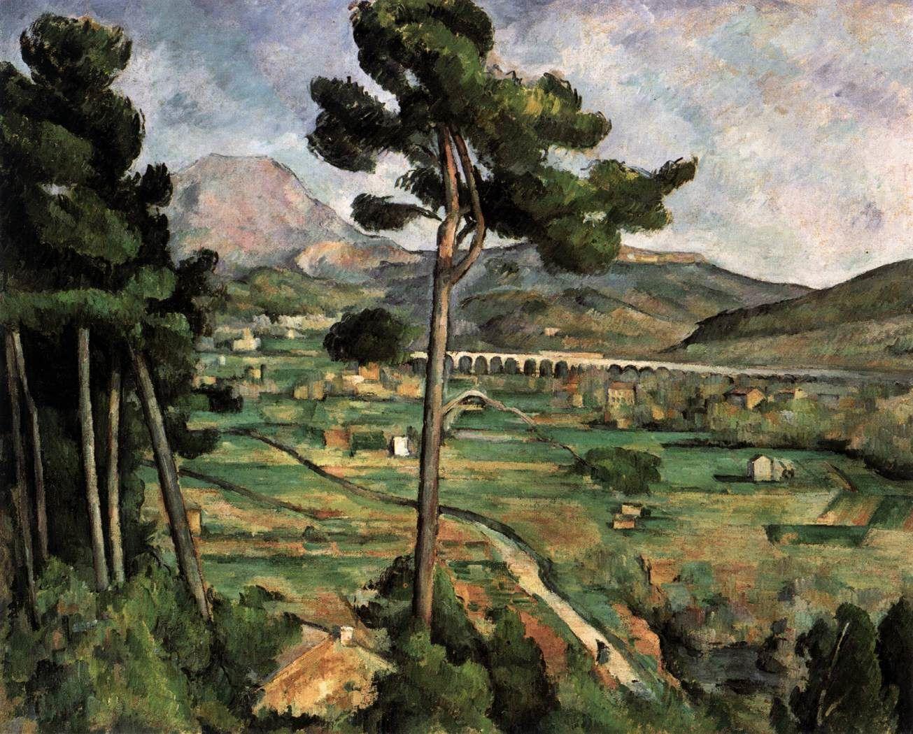 Montagne Sainte-Victoire et Viaduc sur la vallée de l'Arc, Paul Cézanne