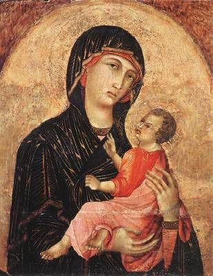 Vierge à l'Enfant, Duccio di Buoninsegna (Sienne, 1255 - 1319)