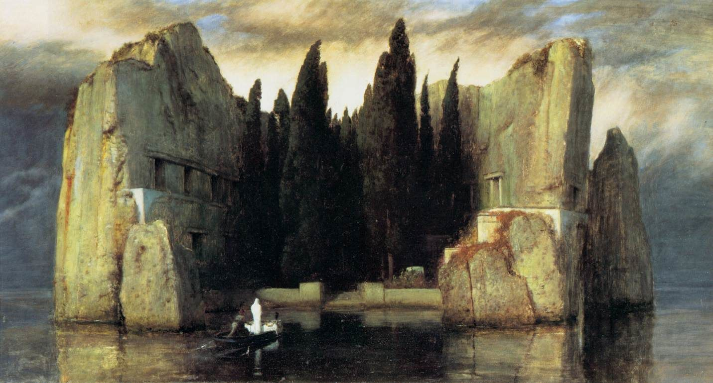 Die Toteninsel (L'île des morts), Arnold Böcklin (1827, Bâle - 1901, San Domenico di Fiesole)