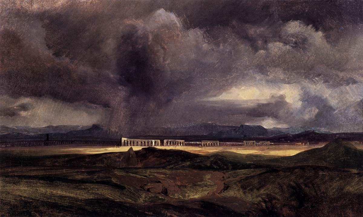 Temps orageux sur la campagne romaine, Karl Blechen (1798, Cottbus - 1840, Berlin)