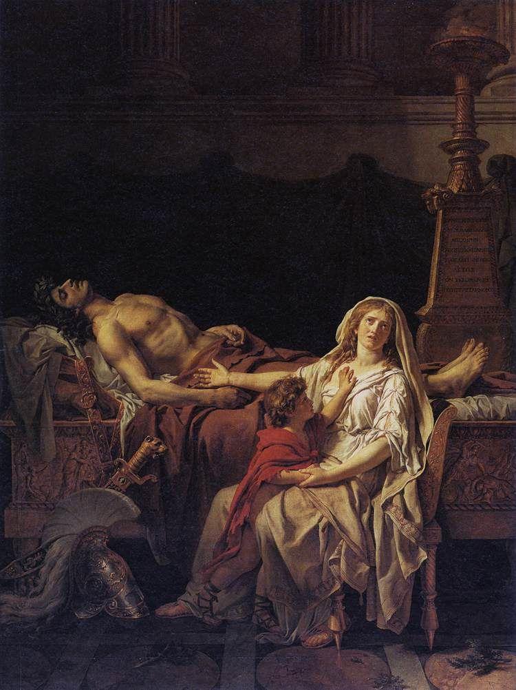 Andromaque pleurant Hector, Jacques-Louis David, Musée du Louvre