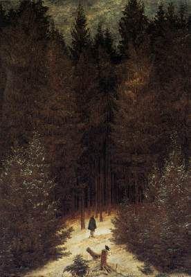 Dans la forêt, Caspar David Friedrich