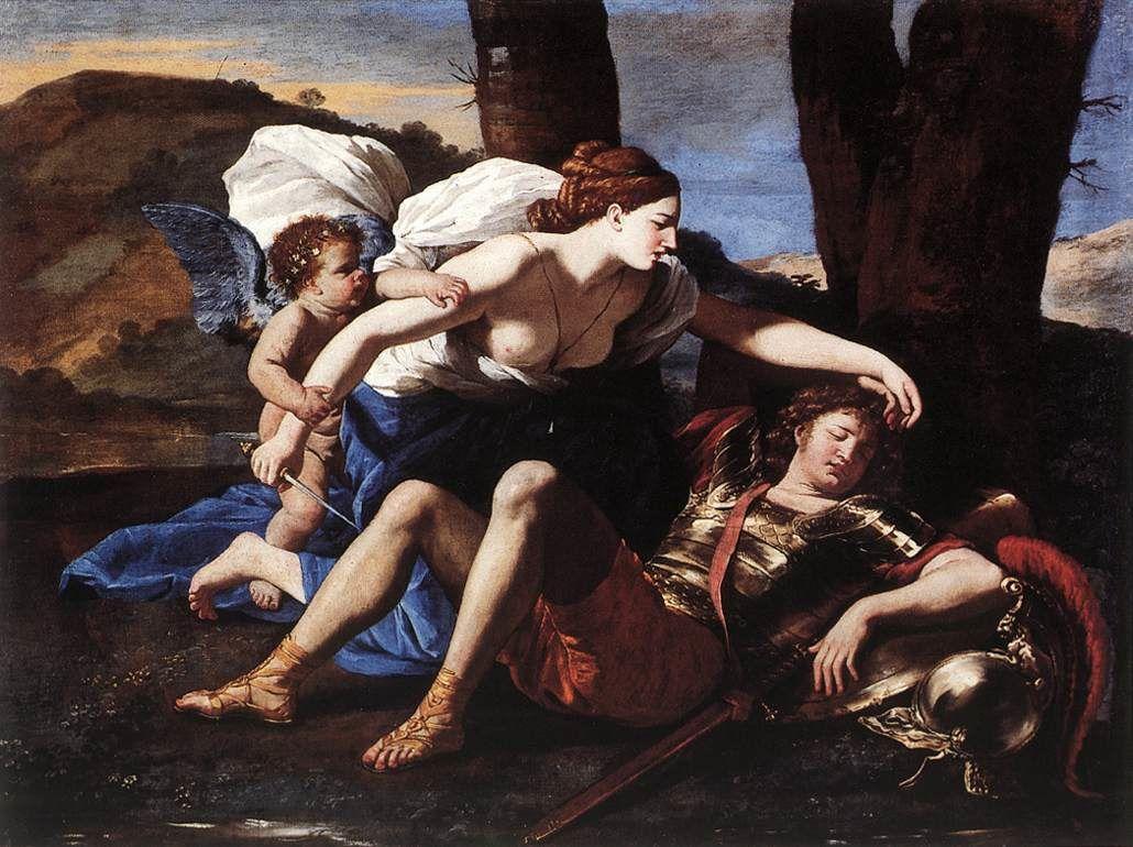 Renaud et Armide, Nicolas Poussin (1594, Les Andelys - 1665, Rome)