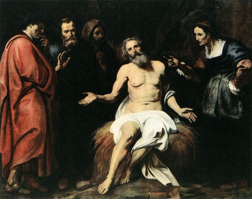 "Job, Gerard Seghers (1591 - 1651, Anvers) - "" Job est la figure de l'humanité souffrante..."""
