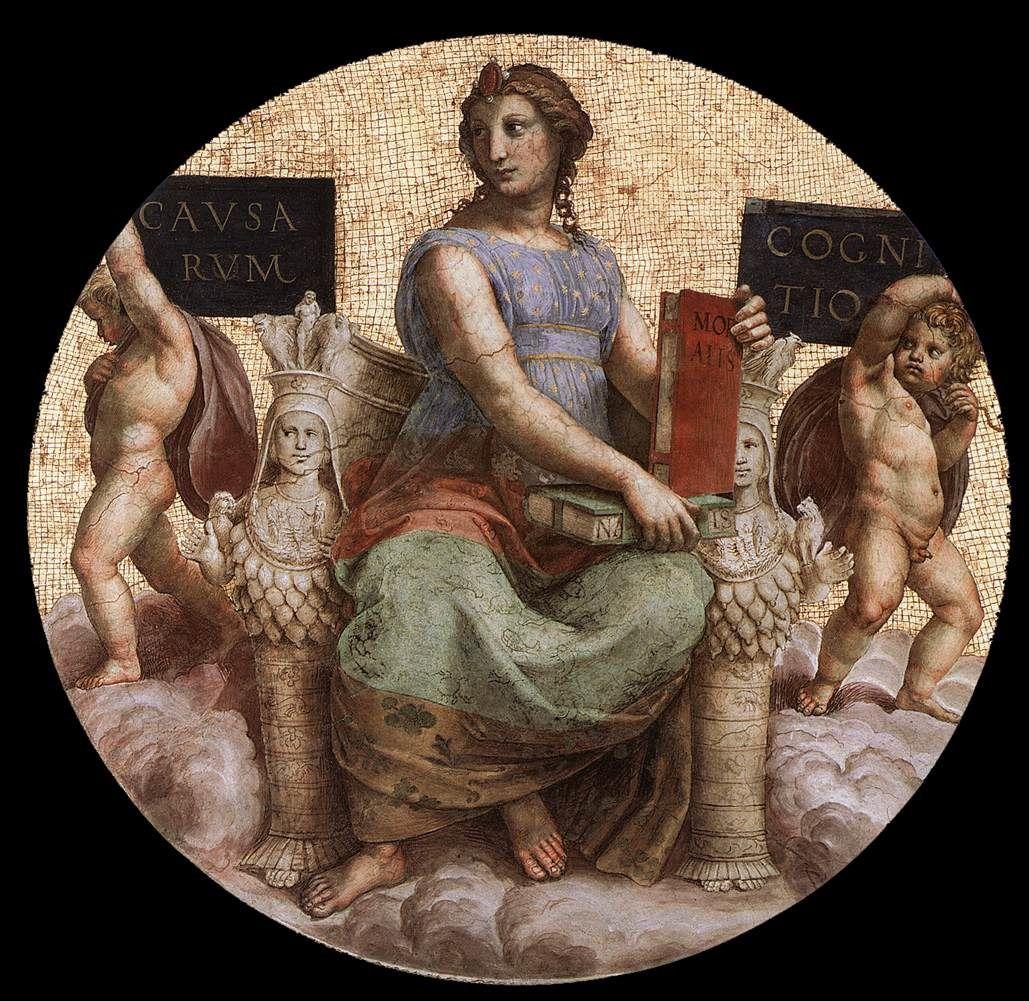 Philosophie, Raphaël, Stanza della Segnatura, Palazzi Pontifici, Vatican
