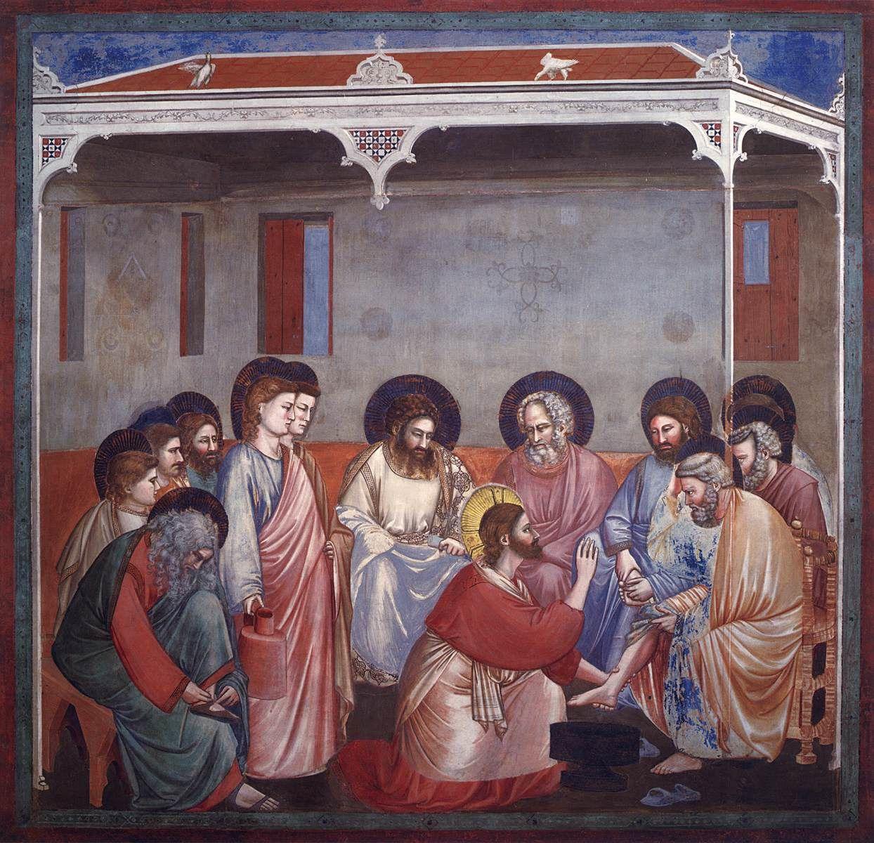 Le lavement des pieds,  Giotto