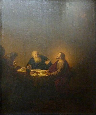 Le Christ se révélant aux pèlerins d'Emmaüs, Dirck von Santvoort, Louvre