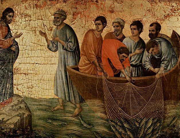 Apparition du Christ au bord de la mer de Tibériade, Duccio di Buoninsegna