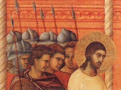 Le Deuxième Interrogatoire par Pilate, Duccio di Buoninsegna - La Maestà