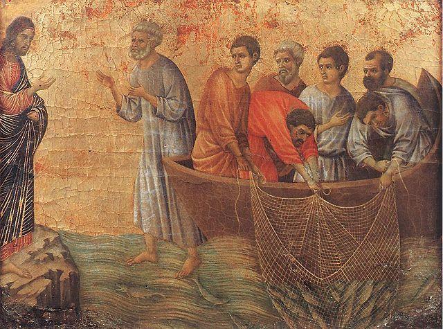 Apparition de Jésus sur le bord de la mer de Tibériade, Maestà, Duccio di Buoninsegna