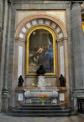 Sainte Marie-Madeleine aux pieds de Jésus, d'après Philippe de Champaigne, copie réalisée au XIXe siècle, église Sainte-Madeleine, Besançon
