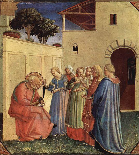 Imposizione del nome al Battista, Fra Angelico