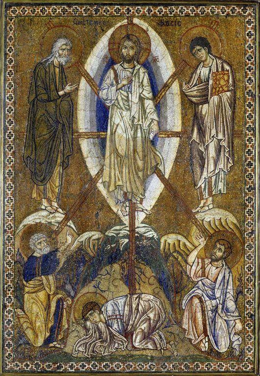 La Transfiguration du Christ, Icône portative, Constantinople, XIIIe siècle, Musée du Louvre : Aile Richelieu, 1er étage, salle 1, vitrine 13