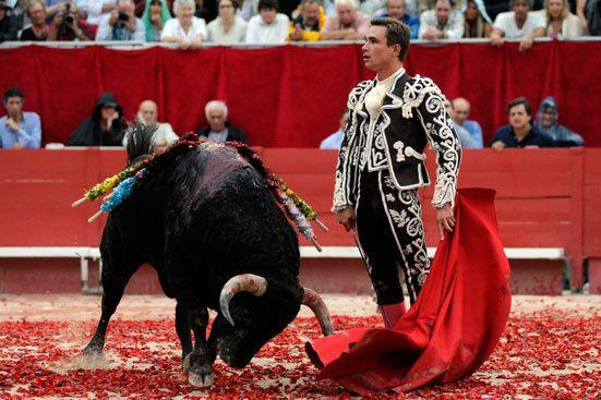 Juan Bautista (Jean-Baptiste Jalabert, matador français) lors d'une Corrida Goyesque à Arles en 2013