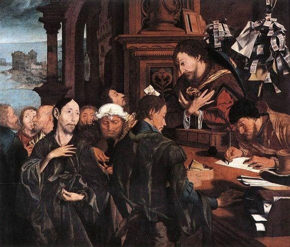 L'Appel de Matthieu, Marinus Van Reymerswaele, Musée des Beaux-Arts de Gand