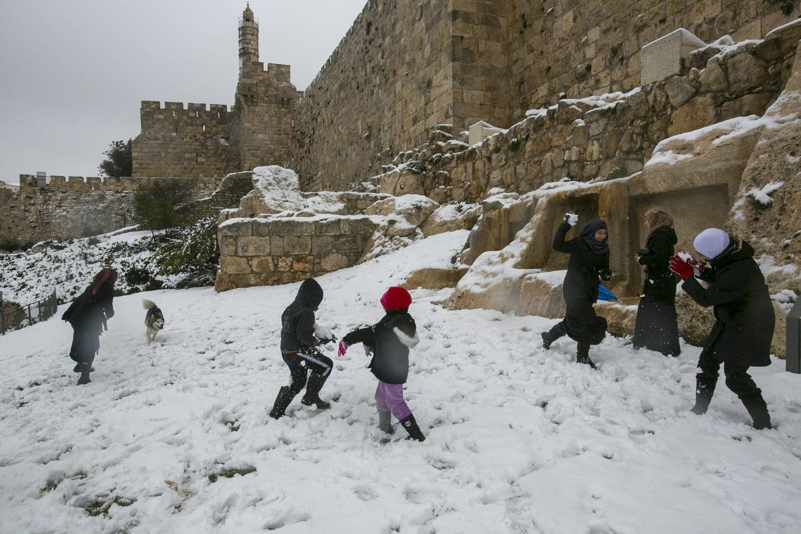 Snow in Jerusalem. Dec. 12, 2013. Photo by Olivier Fitoussi http://www.haaretz.com/