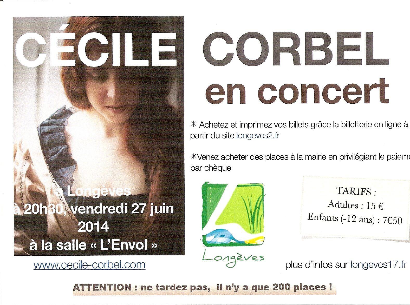 Cécile Corbel en concert à Longèves