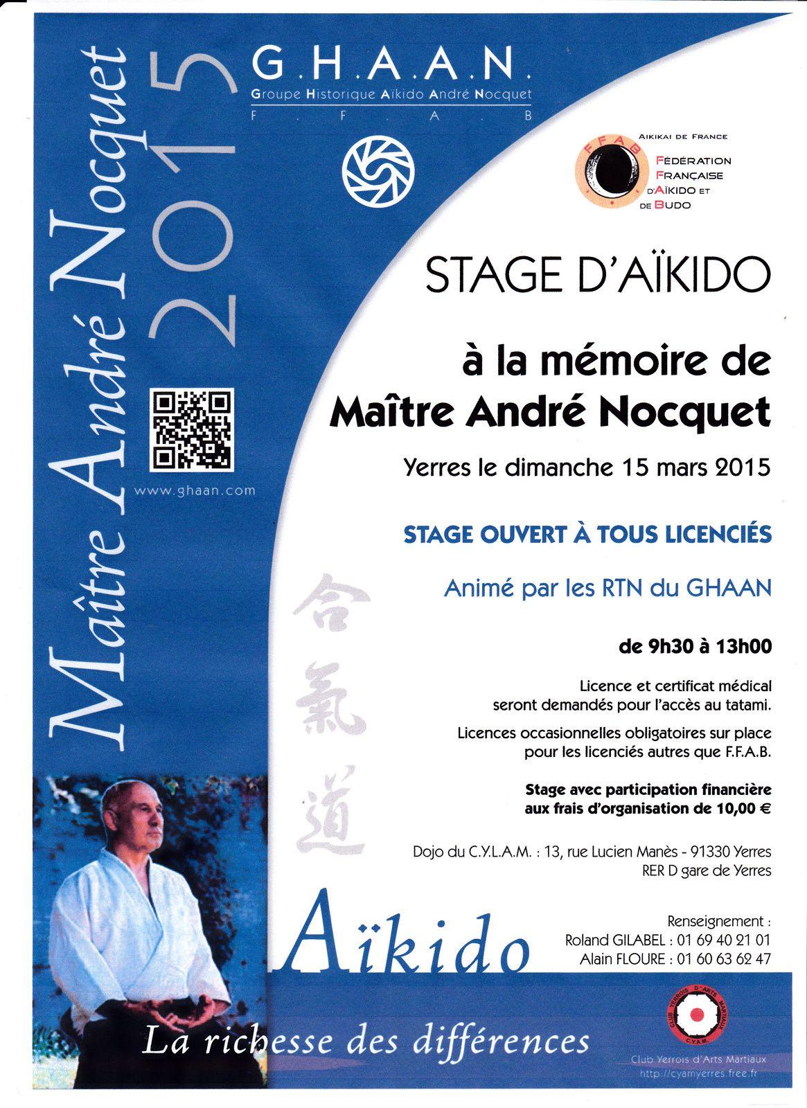 Assemblé général du GHAAN,Stage en la mémoire de Maître André Nocquet
