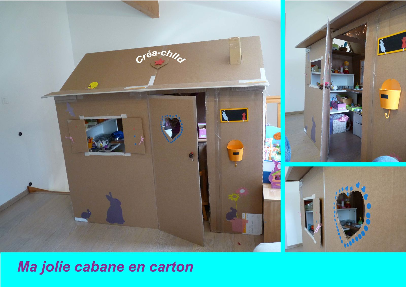 ma jolie cabane en carton crea. Black Bedroom Furniture Sets. Home Design Ideas