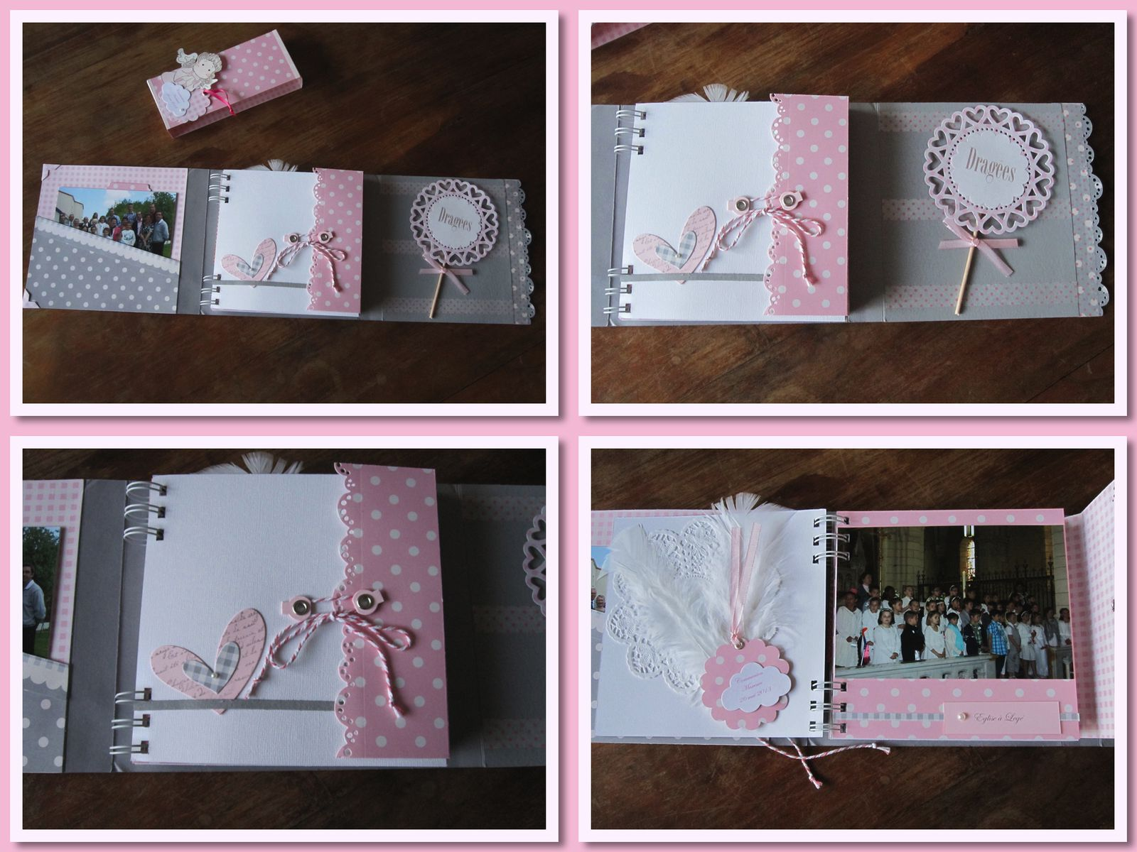 Mini Album Scrap Communion Nini Scrap Tard Ce Soir