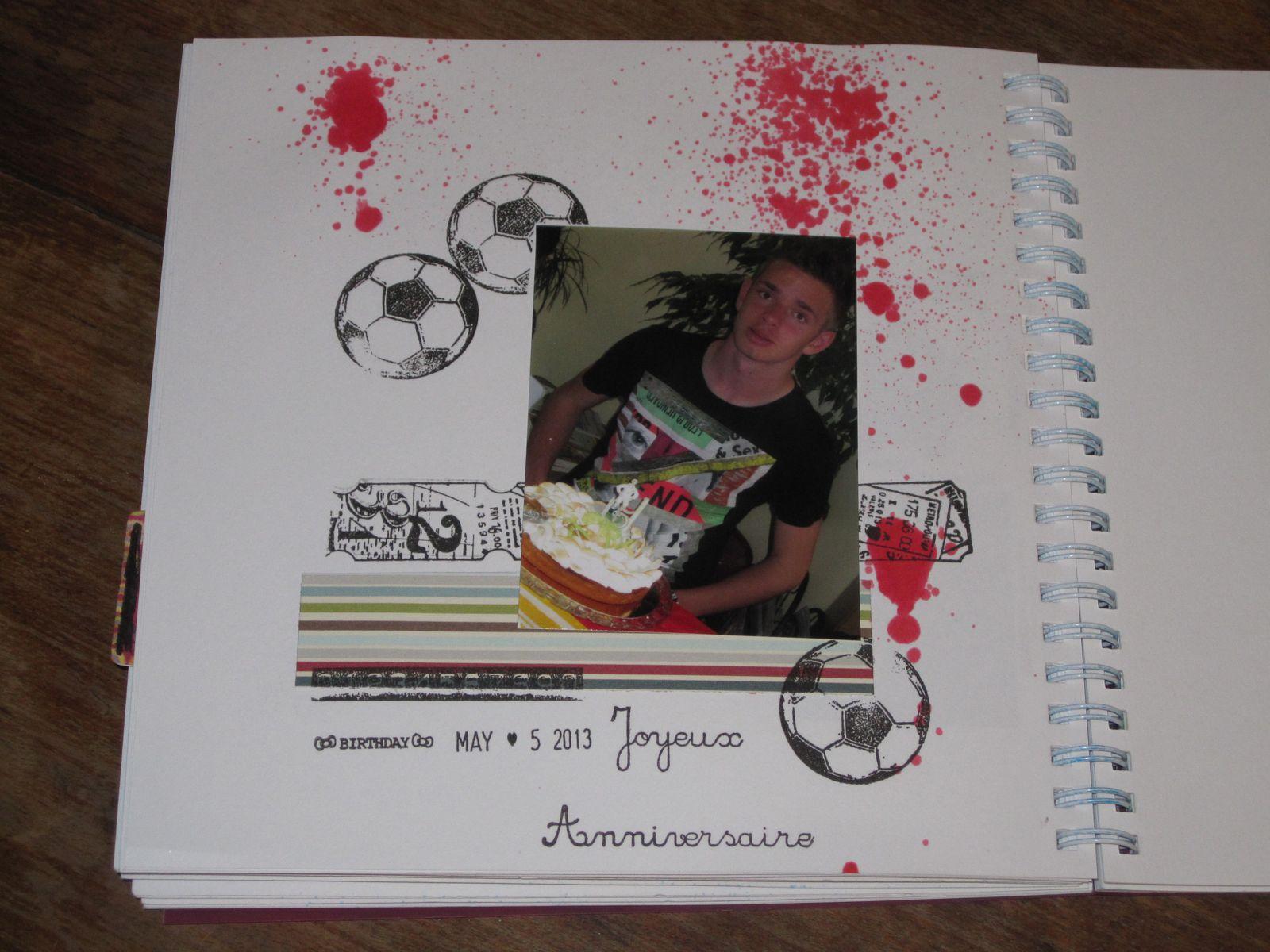 Une page pour mon smash book