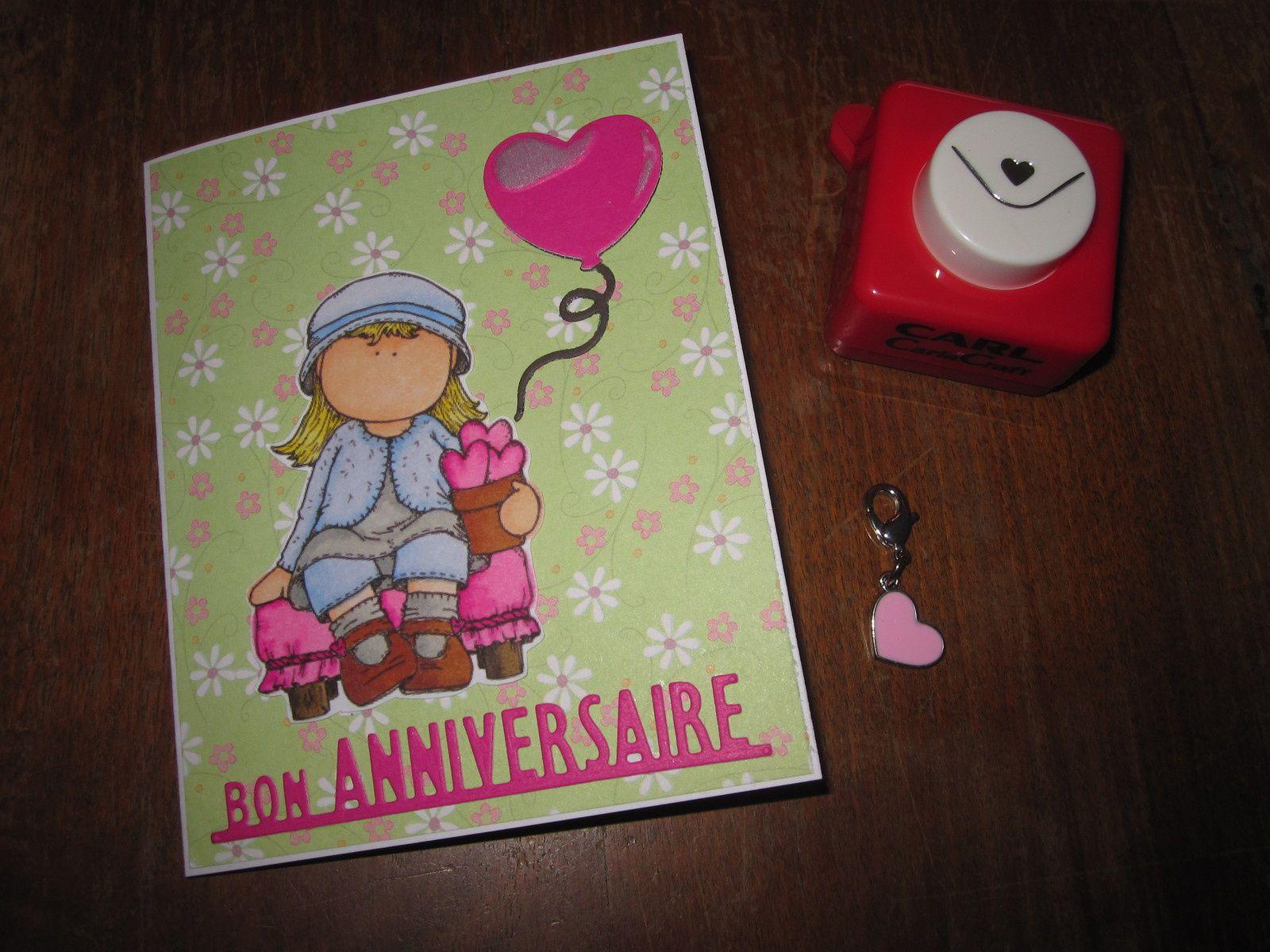 Des cartes et cadeaux pour mon anniversaire