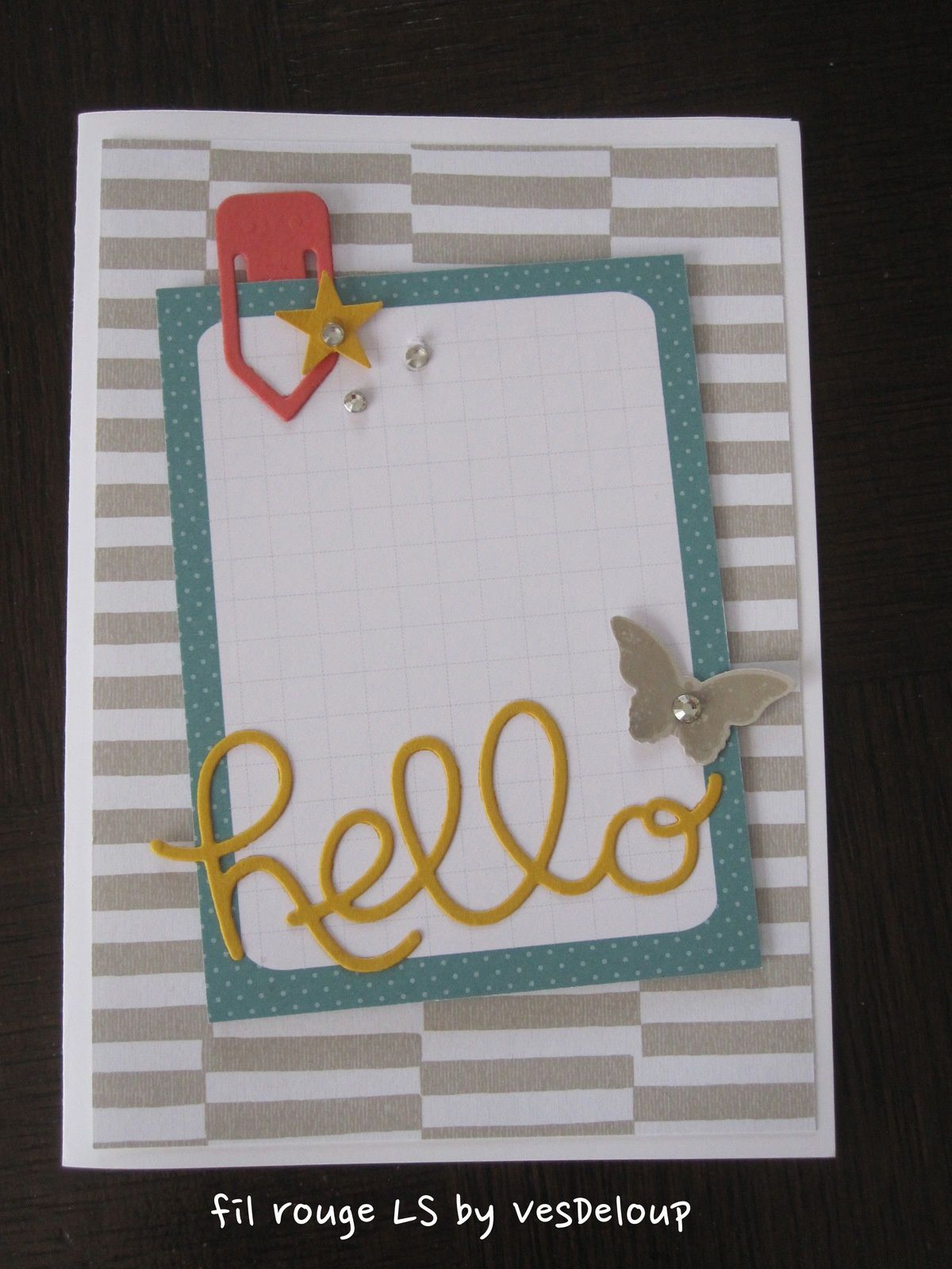 Fil rouge sur Little scrap