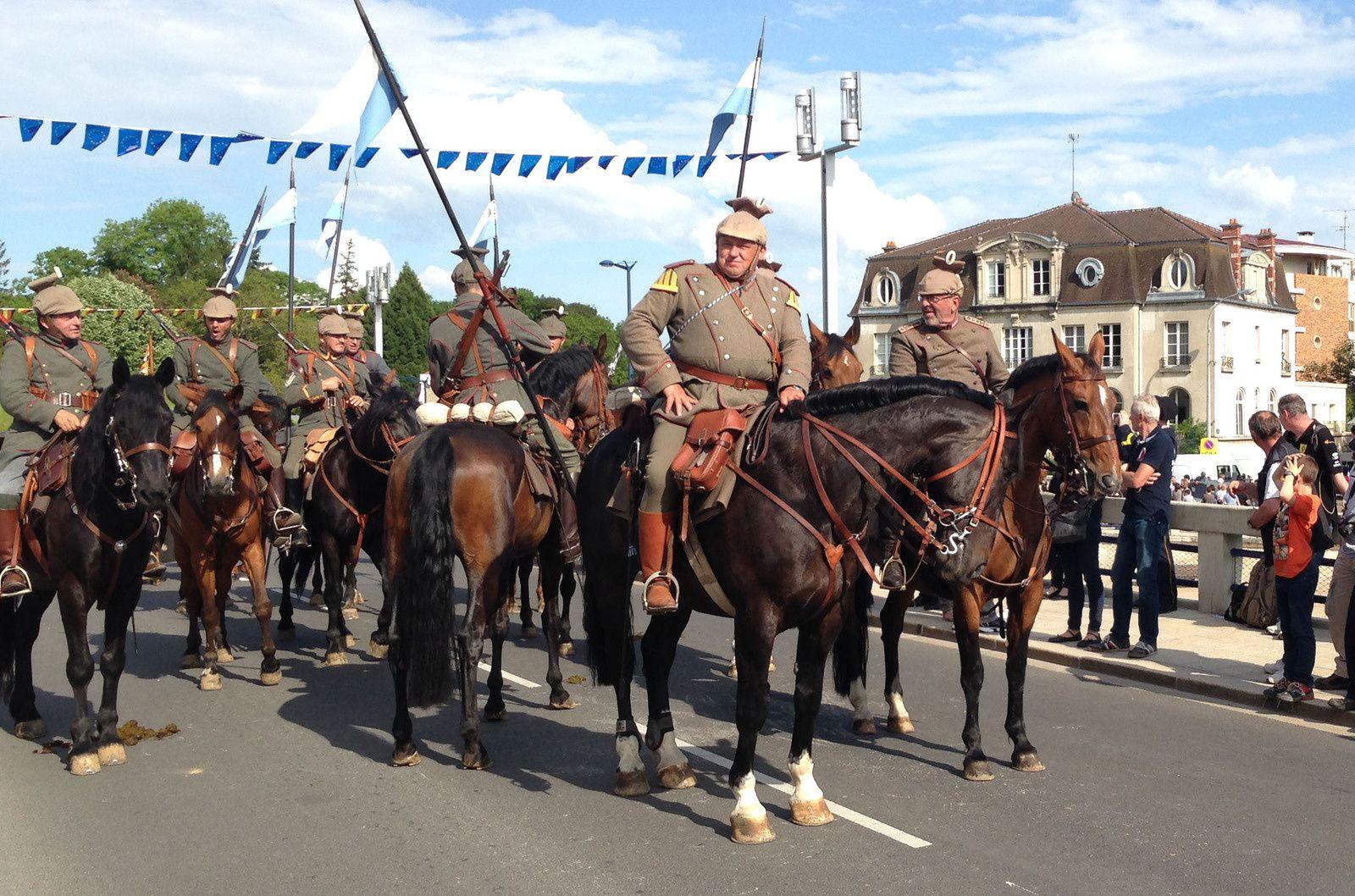 Défilé commémoratif à Verdun
