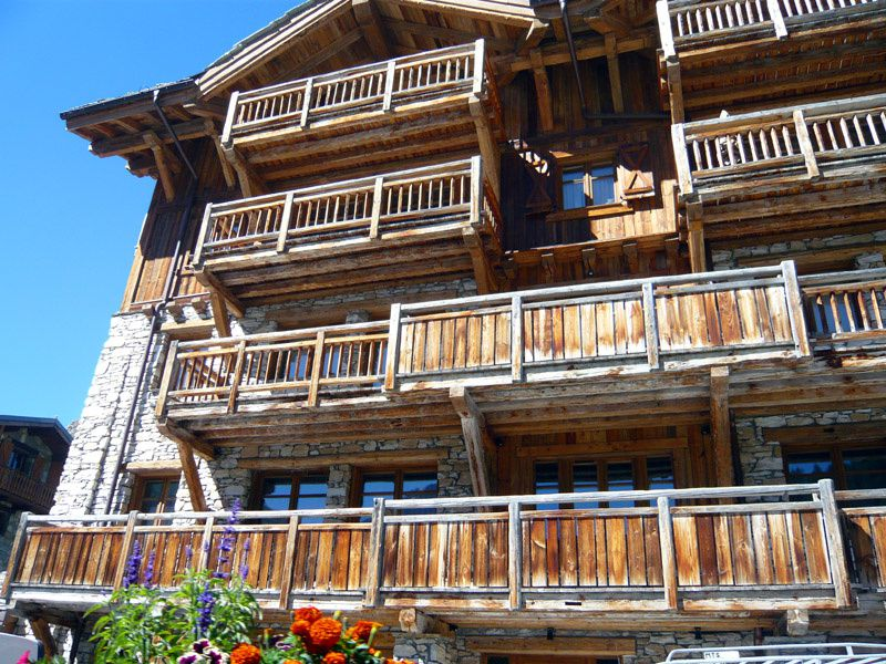 Chalets savoyards à Val d'Isère