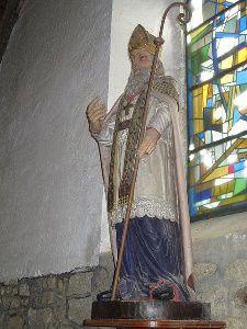 Statue de Saint Cado dans la chapelle de Careil en Guérande (quartier limitrophe de la Baule)