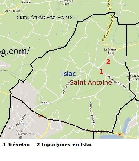 Délilmitation de la frairie d'Islac en Saint-Nazaire