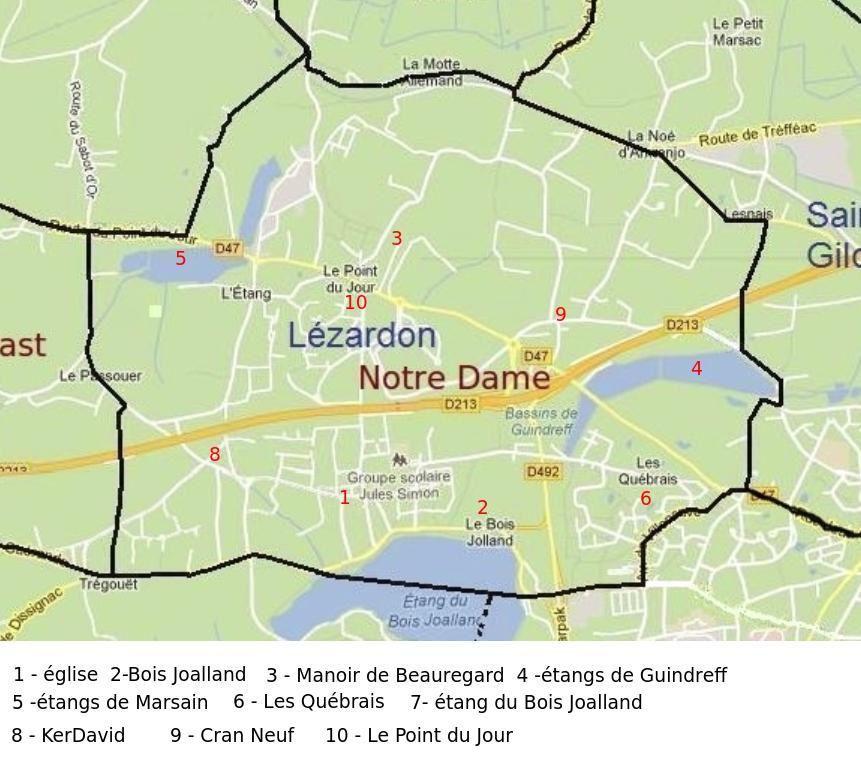 Carte Karrikell à partir de google maps.