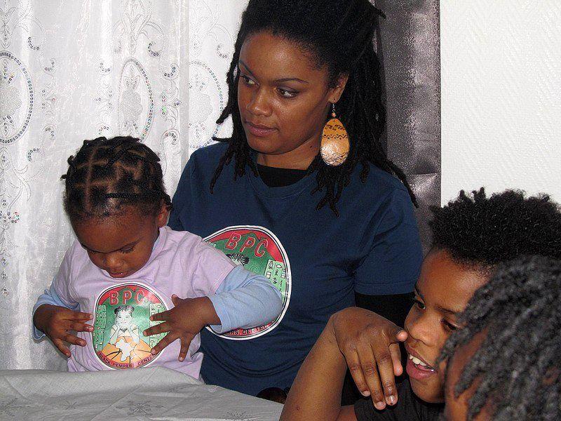2ème atelier cosmétique avec les enfants du Black Pempers Center